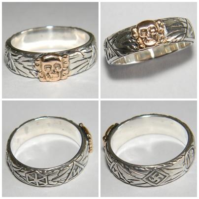 Gold SS Totenkopf ring replica  142108871a8d