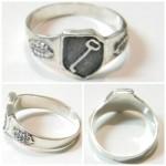 Leibstandarte SS Adolf Hitler silver ring