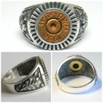 Handcrafted Silver 7.92mm Mauser with Runic SS Symbols Ring