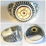 Handcrafted Silver 7,92 mm Mauser Bullet Casing Ring