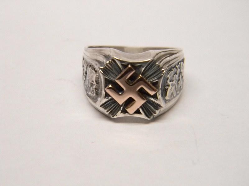 Ww Ii German Gold Swastika Silver Ring Ultrasrings En