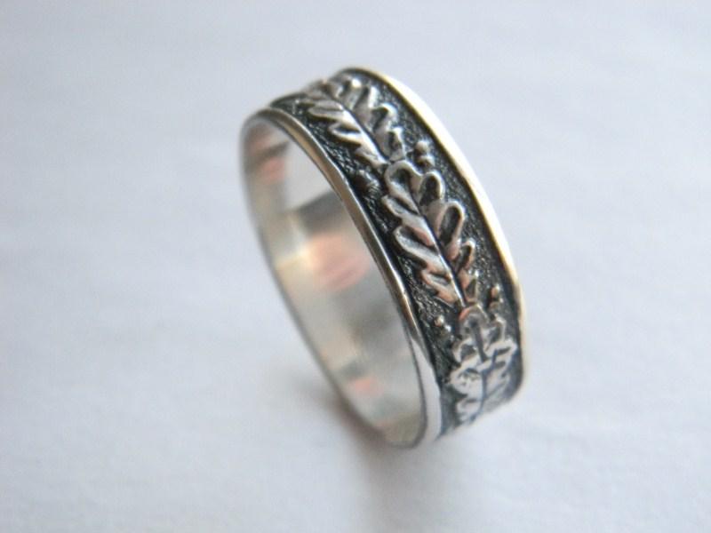 Oak Leaf Sterling Silver Ring