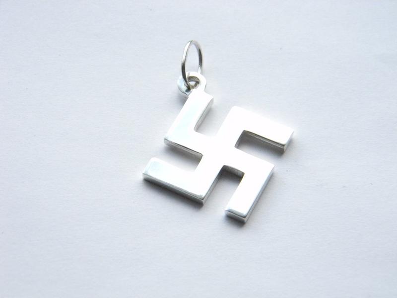Silver Swastika Pendant Ultrasrings En