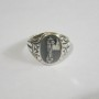 Fasces Italian Sterling Silver Ring 7