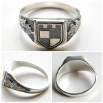 German 1st Infantry Division Silver Ring