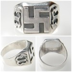 WW II German Swastika Silver ring