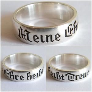 WW II German SS silver ring