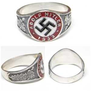 Adolf Hitler 1933 Swastika Ring