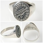 German WW II Luftwaffe Paratrooper silver ring