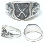 SS Division Dirlewanger silver ring