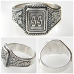 WW2 German Reproduction SS Runes with Oakleaves Ring