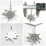 Silver Pendant Edelweiss