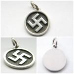 Silver swastika pendant