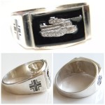 Tiger tank Silver Ring