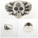 WWII German Skull and Crossbones Silver Ring