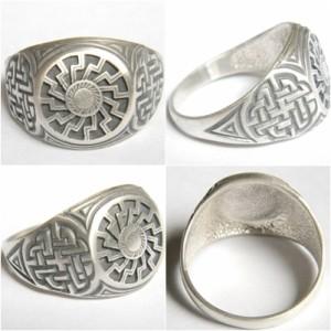 Black Sun Sterling Silver Ring