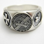 Knight Templar Sterling Silver Masonic Ring