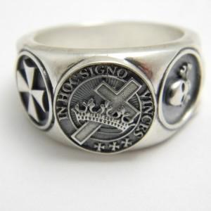 Knight Templar Sterling Silver Masonic Ring