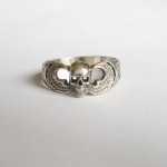 Airborne Paratrooper with Skull Sterling Silver Ring