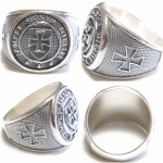 Knight Templar Sterling Silver Ring