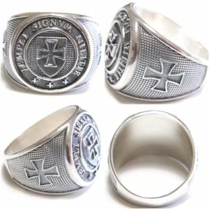 Knight Templar Sterling Silver Ring