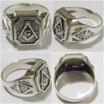 STERLING SILVER MASONIC RING  К-132