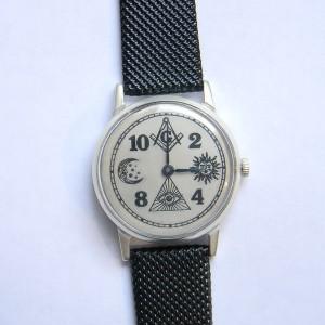 Masonic Watch Handmade Mechanical 15 jewels
