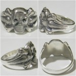 Silver rings Skull with bones WW1