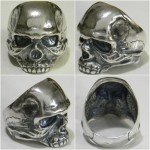 Biker Death Skull Sterling Silver Rings