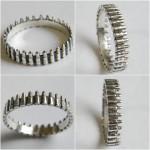 silver ring bandolier / machine-gun belt