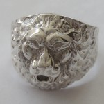 Men's 925 Silver Lion Head Ring