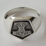 Men's Ring Thor's Hammer Sterling Silver 925 Mjolnir