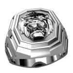 Lion Heart Men Ring Sterling Solid Silver