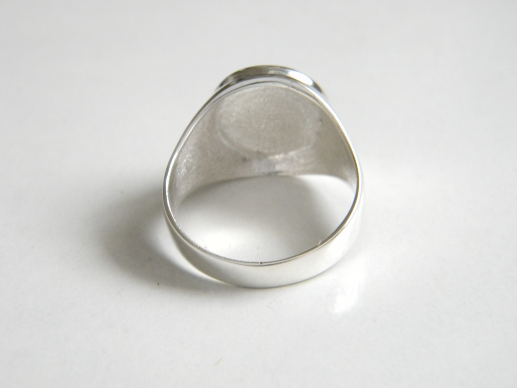 Triple Knot Irish Celtic Symbol Men Ring Sterling Solid Silver