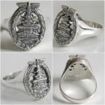 High Seas Fleet Badge Silver ring