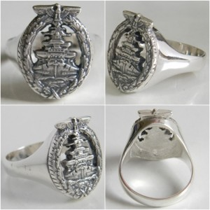 High Seas Fleet Badge Silver ring
