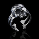 Sterling Silver Biker Ring Skull Pirate