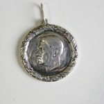 Adolf Hitler silver pendant