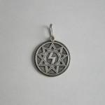 Sig rune silver pendant
