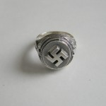 WW II German Swastika Silver ring