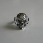 Skull Sterling Silver Biker Men's Rings