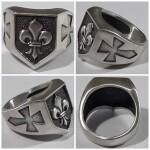 Heraldic lily ring